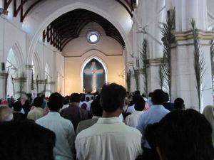 Palm Sunday worship at St. John's Cathedral, Peshawar